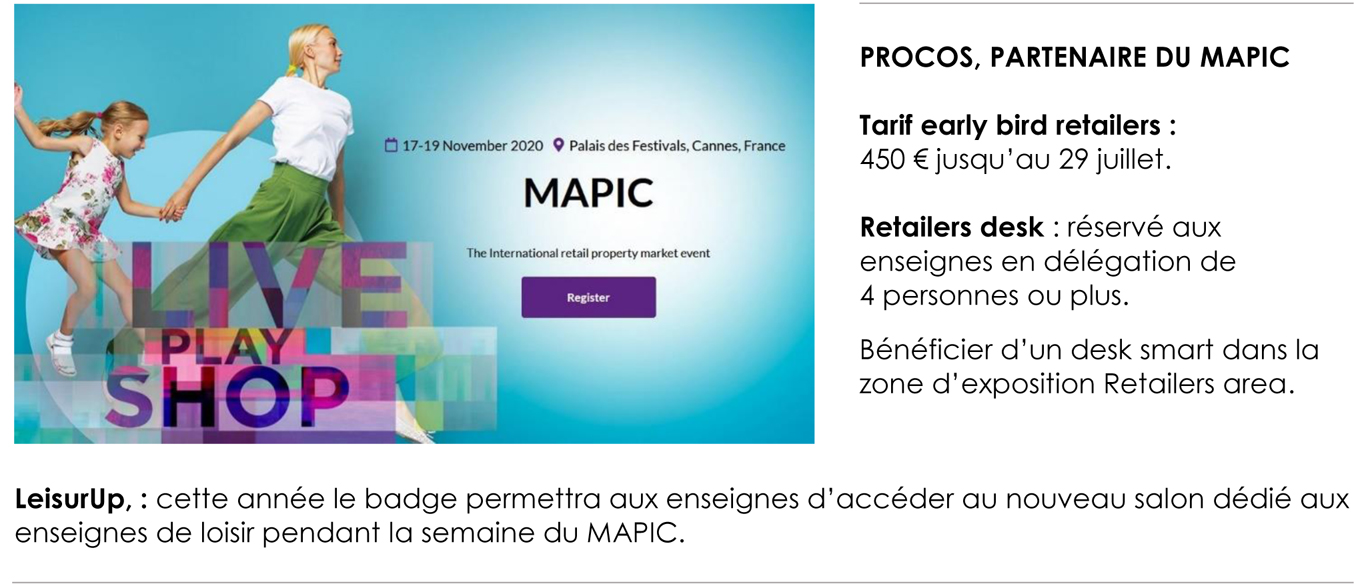 Annonce Mapic 2020